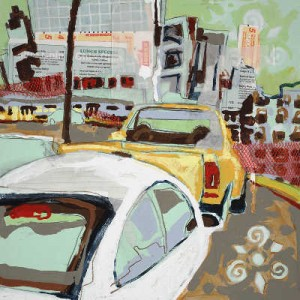 """Castleberry Hill"" 24"" x 24"" mixed medium on paper 2008"