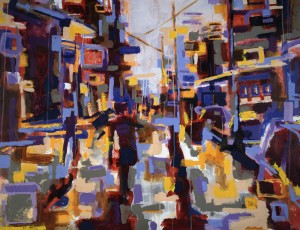 """Jones Inner City View"" Acrylic on canvas 60"" x 50"" est. 2006"