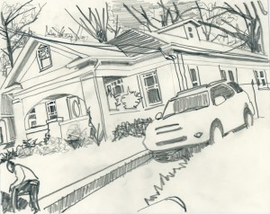 """Mr. Johnson's House"" 8"" x 10"" graphite on paper"