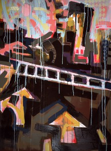 """Direction"" 34""x 53"" Works on Paper"